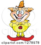 Clipart Of A Creepy Clown Royalty Free Vector Illustration by Dennis Holmes Designs