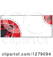 Clipart Of A Ladybug Border With Dots And Text Space Royalty Free Vector Illustration by BNP Design Studio
