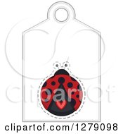 Clipart Of A Ladybug Sales Tag With Text Space And A Heart Royalty Free Vector Illustration by BNP Design Studio