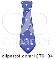 Clipart Of A Purple Star Patterened Business Man Neck Tie Royalty Free Vector Illustration