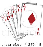 Clipart Of Diamond Playing Cards Royalty Free Vector Illustration by BNP Design Studio
