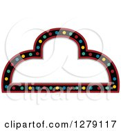 Clipart Of A White Arch Casino Sign With Colorful Lights Black And Red Borders Royalty Free Vector Illustration