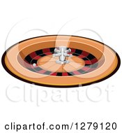 Clipart Of A Casino Roulette Wheel Game Royalty Free Vector Illustration by BNP Design Studio
