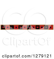 Clipart Of A Red Black And Yellow Border Of Playing Card Suit Shapes Royalty Free Vector Illustration