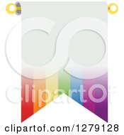 Rainbow Stripe Bunting Flag With White Text Space