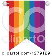 Clipart Of A Rainbow Stripe Bunting Flag Royalty Free Vector Illustration by BNP Design Studio
