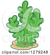 Clipart Of A Cluster Of Green Seaweed Royalty Free Vector Illustration