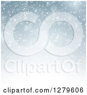 Clipart Of A Blue Or Gray Christmas Background Of Snowflakes Royalty Free Vector Illustration