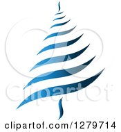 Clipart Of A Blue Abstract Christmas Tree Royalty Free Vector Illustration by Vector Tradition SM
