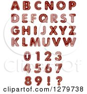 Clipart Of Christmas Gingerbread Cookie Letters Numbers And Punctuation Royalty Free Vector Illustration