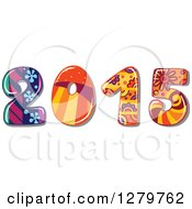 Clipart Of A Funky Patterned New Year 2015 Royalty Free Vector Illustration by Vector Tradition SM