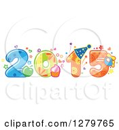 Clipart Of A Food And Patterned New Year 2015 Royalty Free Vector Illustration by Vector Tradition SM