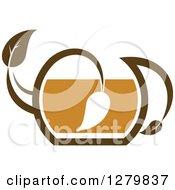 Leafy Brown Tea Pot 11