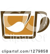 Poster, Art Print Of Leafy Brown Tea Cup 29