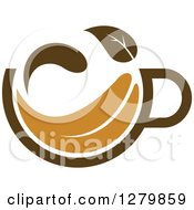 Poster, Art Print Of Leafy Brown Tea Cup 30