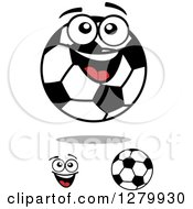 Soccer Balls And A Face 2