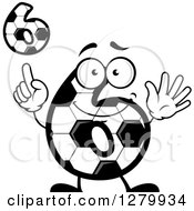 Grayscale Soccer Ball Number Six Designs