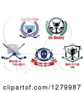 Clipart Of Ice Hockey Sports Designs And Text 2 Royalty Free Vector Illustration