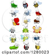 Clipart Of Cute Cartoon Insects Royalty Free Vector Illustration by Vector Tradition SM