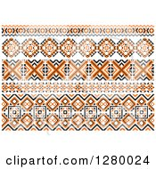 Clipart Of A Orange Black And White Native American Border Designs Royalty Free Vector Illustration by Vector Tradition SM
