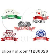 Clipart Of Casino And Gambling Banners Royalty Free Vector Illustration