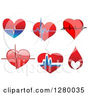 Clipart Of Hearts And Beats Royalty Free Vector Illustration