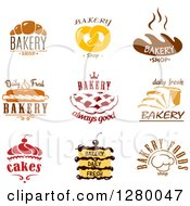 Clipart Of Bakery Treats And Text Royalty Free Vector Illustration