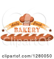 Clipart Of Daily Fresh Bakery Designs With Muffins And Bread Royalty Free Vector Illustration