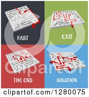 Clipart Of 3d Mazes With Arrows And Text Royalty Free Vector Illustration by Seamartini Graphics