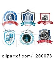 Clipart Of College And University Designs Royalty Free Vector Illustration by Seamartini Graphics
