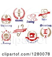 Clipart Of Sewing Embroidery And Tailoring Designs Royalty Free Vector Illustration by Vector Tradition SM