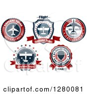 Clipart Of Airplane Tour Labels Royalty Free Vector Illustration by Seamartini Graphics