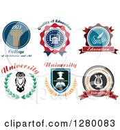 Clipart Of University And College Designs Royalty Free Vector Illustration by Seamartini Graphics