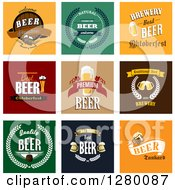 Clipart Of Beer And Text Designs Royalty Free Vector Illustration by Seamartini Graphics