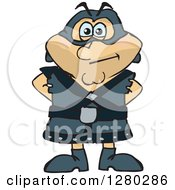 Clipart Of A Standing Executioner Royalty Free Vector Illustration by Dennis Holmes Designs