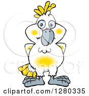 Clipart Of A Happy Cockatoo Bird Royalty Free Vector Illustration by Dennis Holmes Designs