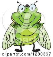 Happy Cicada Standing