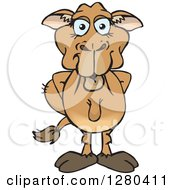 Clipart Of A Happy Camel Standing With His Hands Behind His Back Royalty Free Vector Illustration by Dennis Holmes Designs