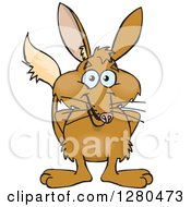 Clipart Of A Happy Bilby Standing Royalty Free Vector Illustration
