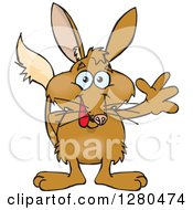 Clipart Of A Happy Bilby Waving Royalty Free Vector Illustration by Dennis Holmes Designs