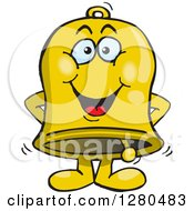 Clipart Of A Happy Charity Bell Royalty Free Vector Illustration by Dennis Holmes Designs