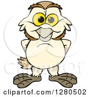 Clipart Of A Happy Barn Owl Royalty Free Vector Illustration by Dennis Holmes Designs