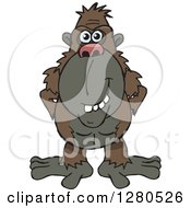 Clipart Of A Happy Ape Royalty Free Vector Illustration by Dennis Holmes Designs