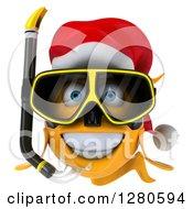 3d Snorkeling Christmas Goldfish