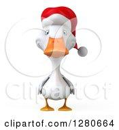3d White Christmas Duck
