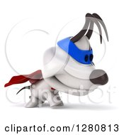 Clipart Of A 3d Jack Russell Terrier Dog Super Hero Walking Royalty Free Illustration