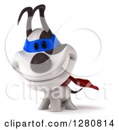Clipart Of A 3d Jack Russell Terrier Dog Super Hero Smiling Royalty Free Illustration