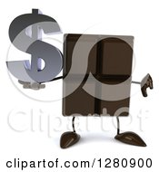 Clipart Of A 3d Chocolate Candy Bar Character Holding A Thumb Down And A Dollar Symbol Royalty Free Illustration