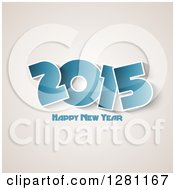 Clipart Of A Blue Happy New Year 2015 Greeting Over Sepia Royalty Free Vector Illustration