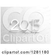 Clipart Of A Grayscale Happy New Year 2015 Greeting Over Diagonal Text Royalty Free Vector Illustration